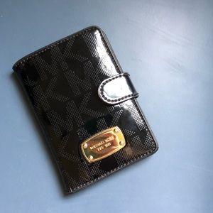 MK Shiny Black Wallet